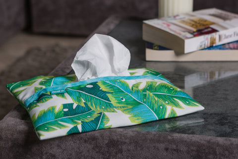 Tropical Leaves Tissue Box