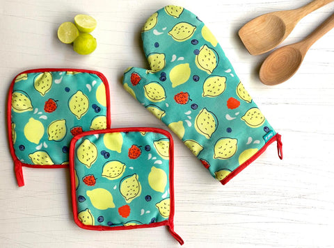 Raspberry Lemonade Mitt Set
