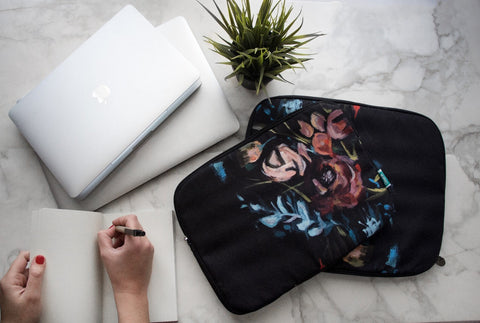 Night Florals Laptop Sleeve