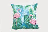 Dos Flamingos Floor Cushion Cover