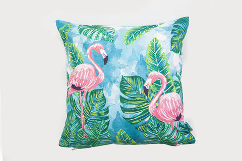 Dos Flamingos Cushion Cover
