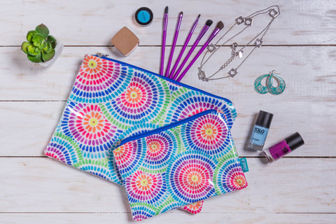 Colorful Circles Makeup Pouch