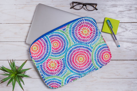 Colorful Circles Laptop Sleeve
