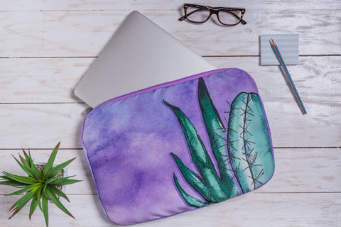 Purple Vera Laptop Sleeve