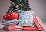 Red & White Christmas Cushion