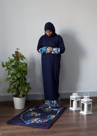 Navy Islamic 1 Piece Prayer Wear