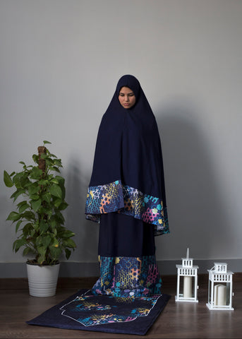 Navy Islamic 2 Piece Prayer Wear