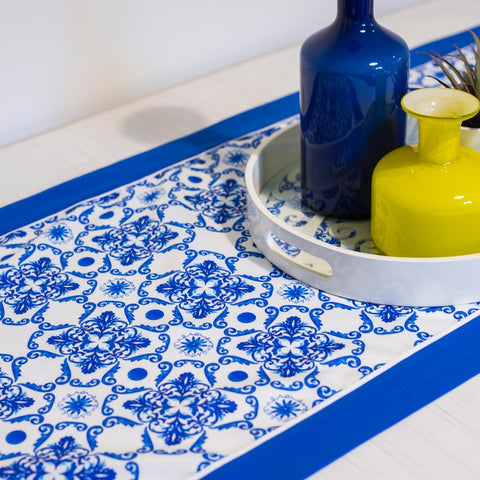 Blue Grotto Table Runner