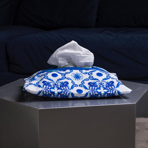 Blue Grotto Tissue Box