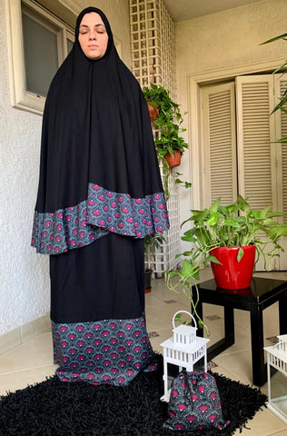 Moroccan Black 2 Piece Prayer Wear
