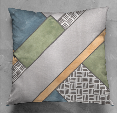 Diagonal Stripes Cushion