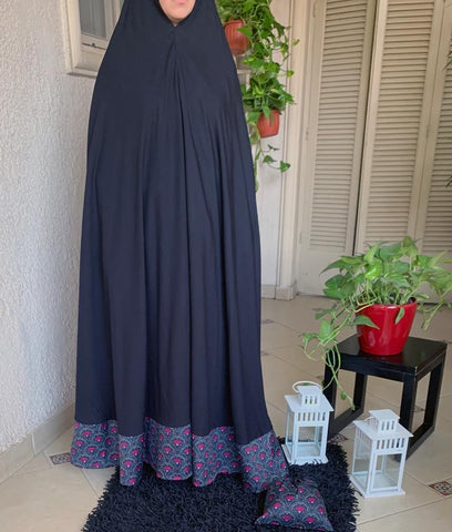 Moroccan Black 1 Piece Prayer Wear
