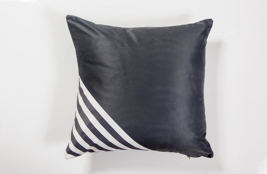 Gray Coushie with Stripes Corner