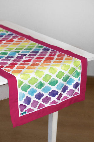 Colorful Lattice Table Runner