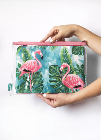 Flamingo Beach Pouch