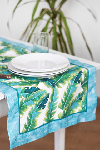 Tropical Leaves Table Runner