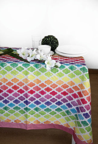 Colorful Lattice Tablecloth