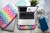 Colored Lattice Laptop Sleeve