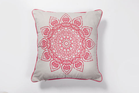 Melon Mandala Cushion Cover