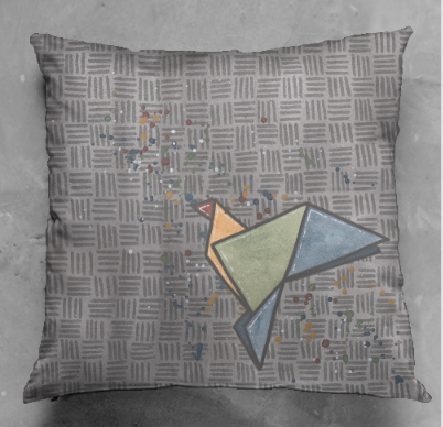Origami Bird Cushion