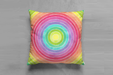 Rainbow Circles Cushion