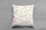 Watercolor Splashes Cushion