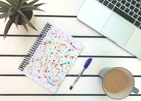 Paint Splashes Notebook
