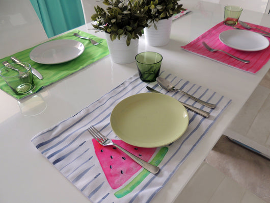 Watermelon Margarita Placemats