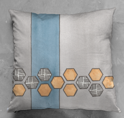 Yellow Hexagons Cushion