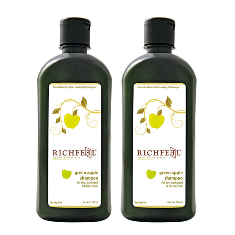 Richfeel Green Apple Shampoo 100 ml, Pack Of 2