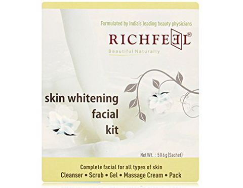 Richfeel Skin Whitening Facial Kit - Cleanser, Scrub, Gel, Massage Cream Pack (30 g)