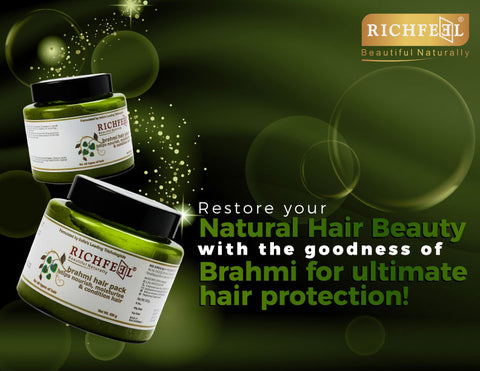 Richfeel Brahmi Hair Pack (500 g) For Nourish Moisturize & Conditioning Hair