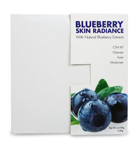 Richfeel Blueberry skin Radiance Kit - Cleanser, Toner & Moisturizer (250 g).