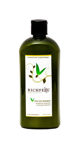 Richfeel Aloe Vera shampoo (500 ml) For Colored & Chemically Treated Hairs