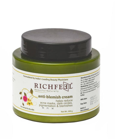 Richfeel Anti Blemish Cream (500 g) For Acne Marks, Dark Circles, Pigmentation & Blemishes