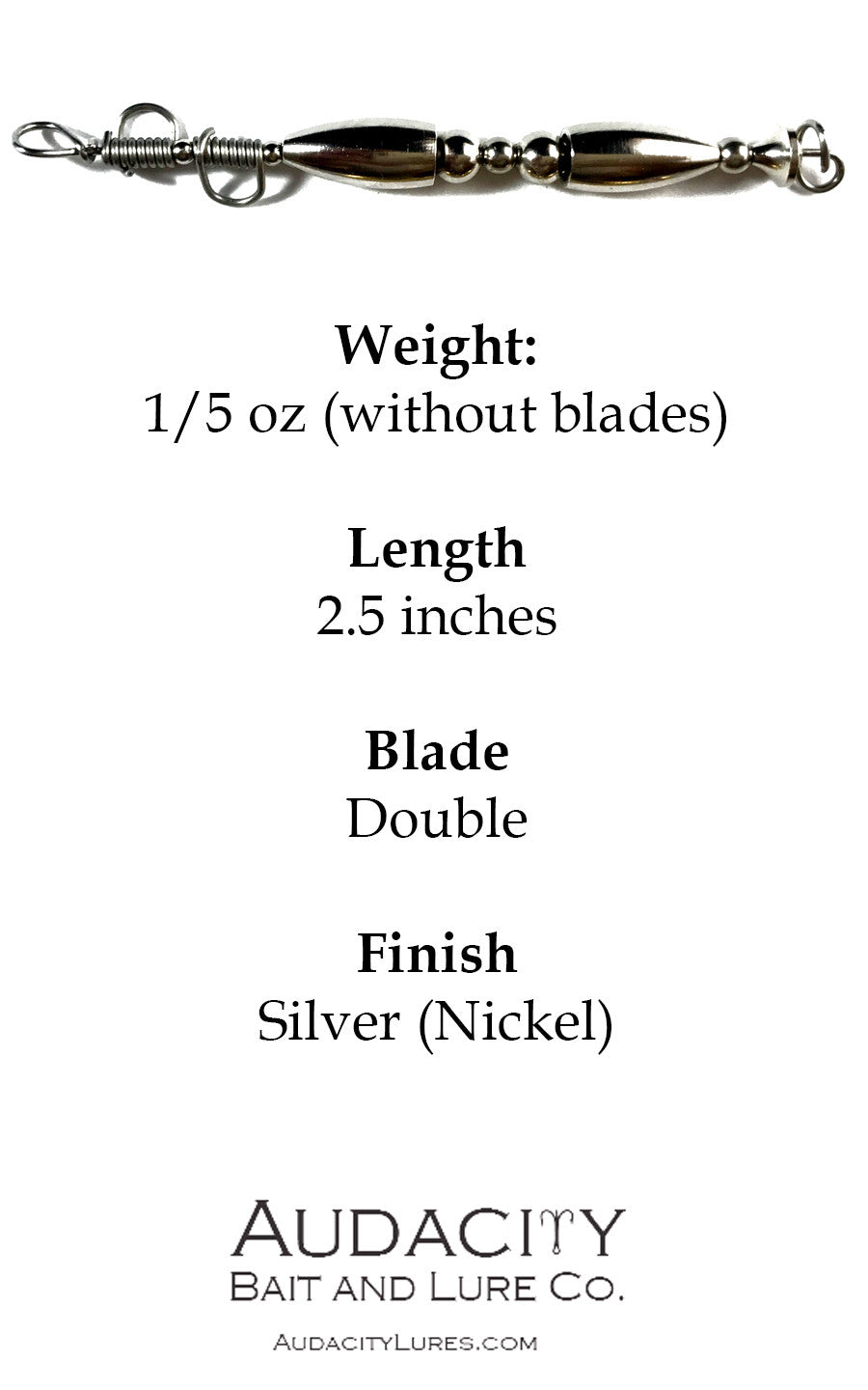 Silver Double-Blade Body (1/5 oz)