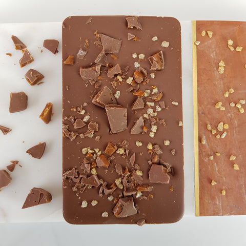 The Daim Crunch Bar One - The Home Of Fully Loaded boozy Chocolate. Large Slabbs of boozy chocolate with a variety of alcoholic ganaches; gin, rum, whisky, amaretto, baileys and toppings. Available as monthly subscriptions.