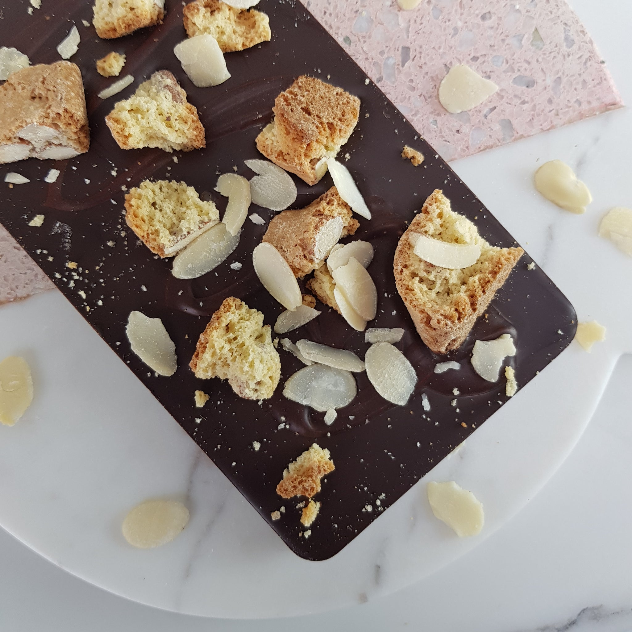 The Italian Biscuit One - The Home Of Fully Loaded boozy Chocolate. Large Slabbs of boozy chocolate with a variety of alcoholic ganaches; gin, rum, whisky, amaretto, baileys and toppings. Available as monthly subscriptions.