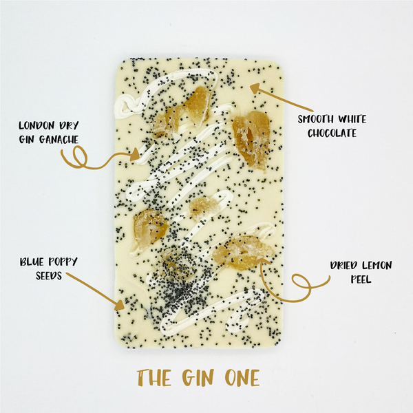The Gin One - The Home Of Fully Loaded boozy Chocolate. Large Slabbs of boozy chocolate with a variety of alcoholic ganaches; gin, rum, whisky, amaretto, baileys and toppings. Available as monthly subscriptions.