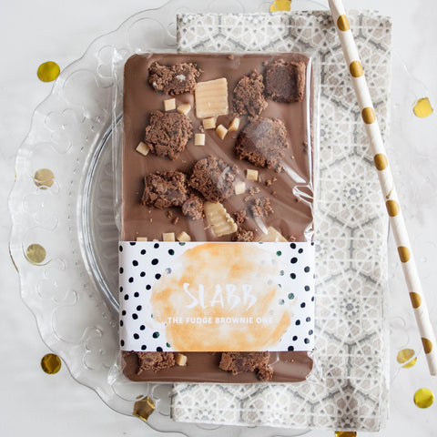 The Fudge Brownie One | Christmas Pre Orders - The Home Of Fully Loaded boozy Chocolate. Large Slabbs of boozy chocolate with a variety of alcoholic ganaches; gin, rum, whisky, amaretto, baileys and toppings. Available as monthly subscriptions.
