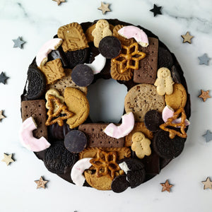 Solid Dark Chocolate Vegan Christmas Wreath