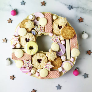 Solid White Chocolate Christmas Wreath