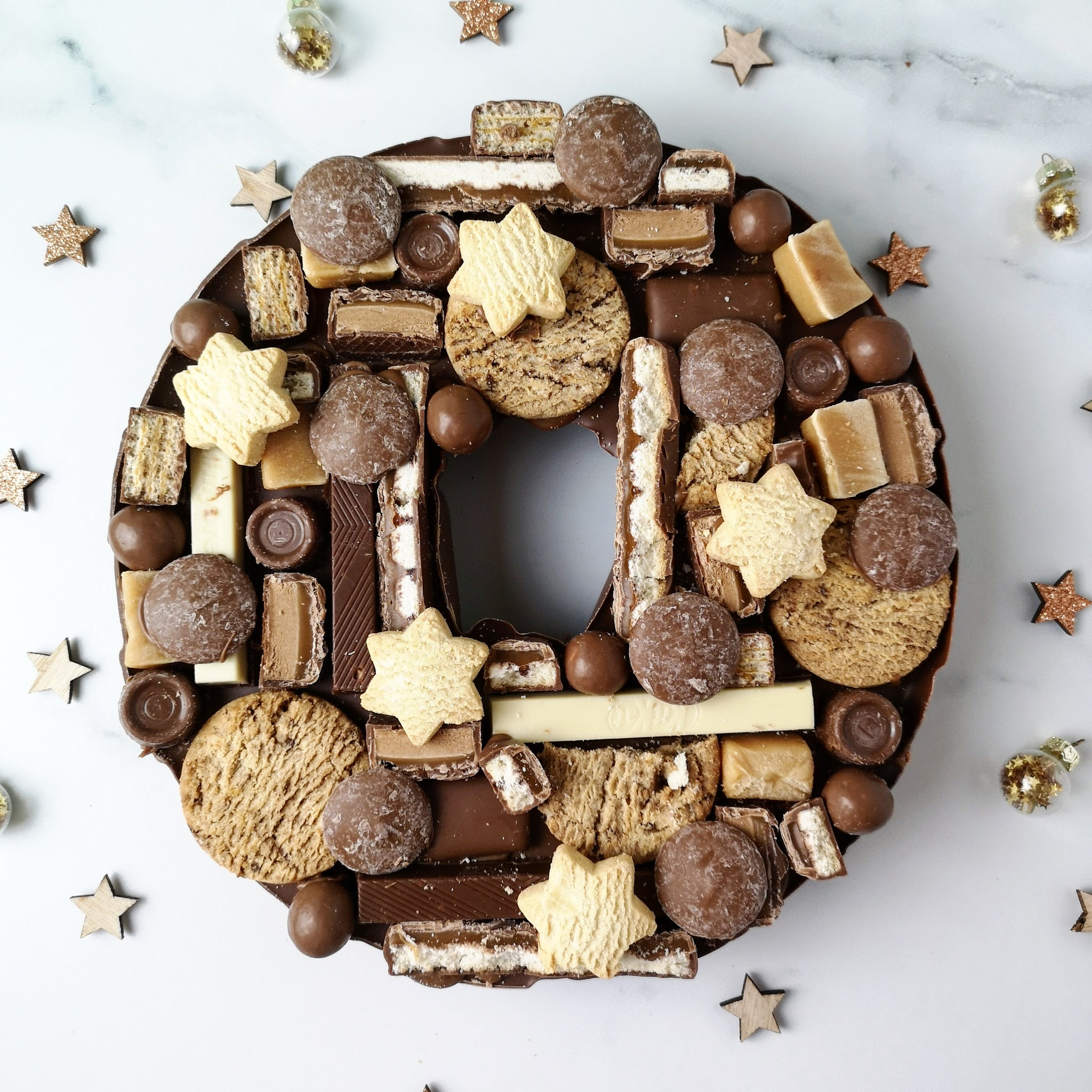 Solid Milk Chocolate Christmas Wreath
