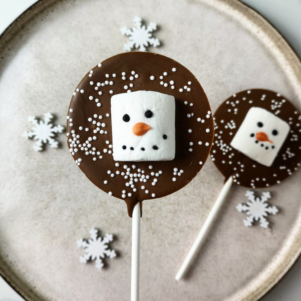 Milk Chocolate Snowman Marshmallow Lollipop