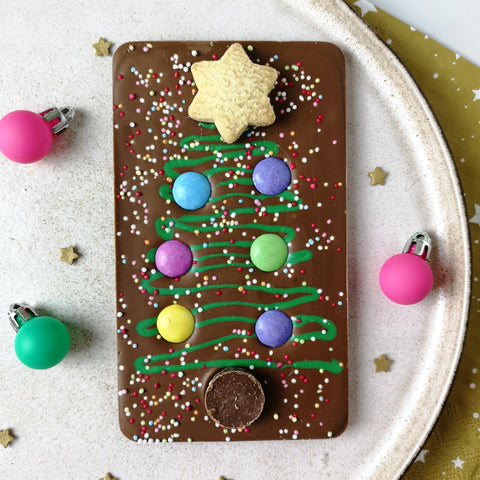 Milk Chocolate Christmas Tree Slabb