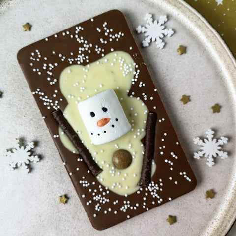 Milk Chocolate Melted Snowman Slabb