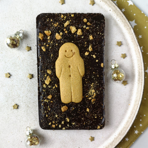 Dark Chocolate Vegan Gingerbread Man Slabb