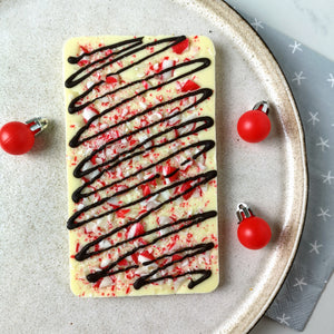 Peppermint Bark White Chocolate Slabb