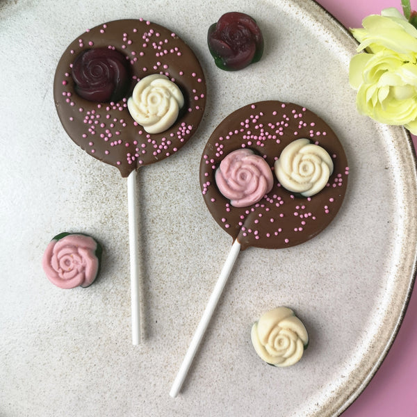 Five Milk Chocolate Valentines Lollipops Collection