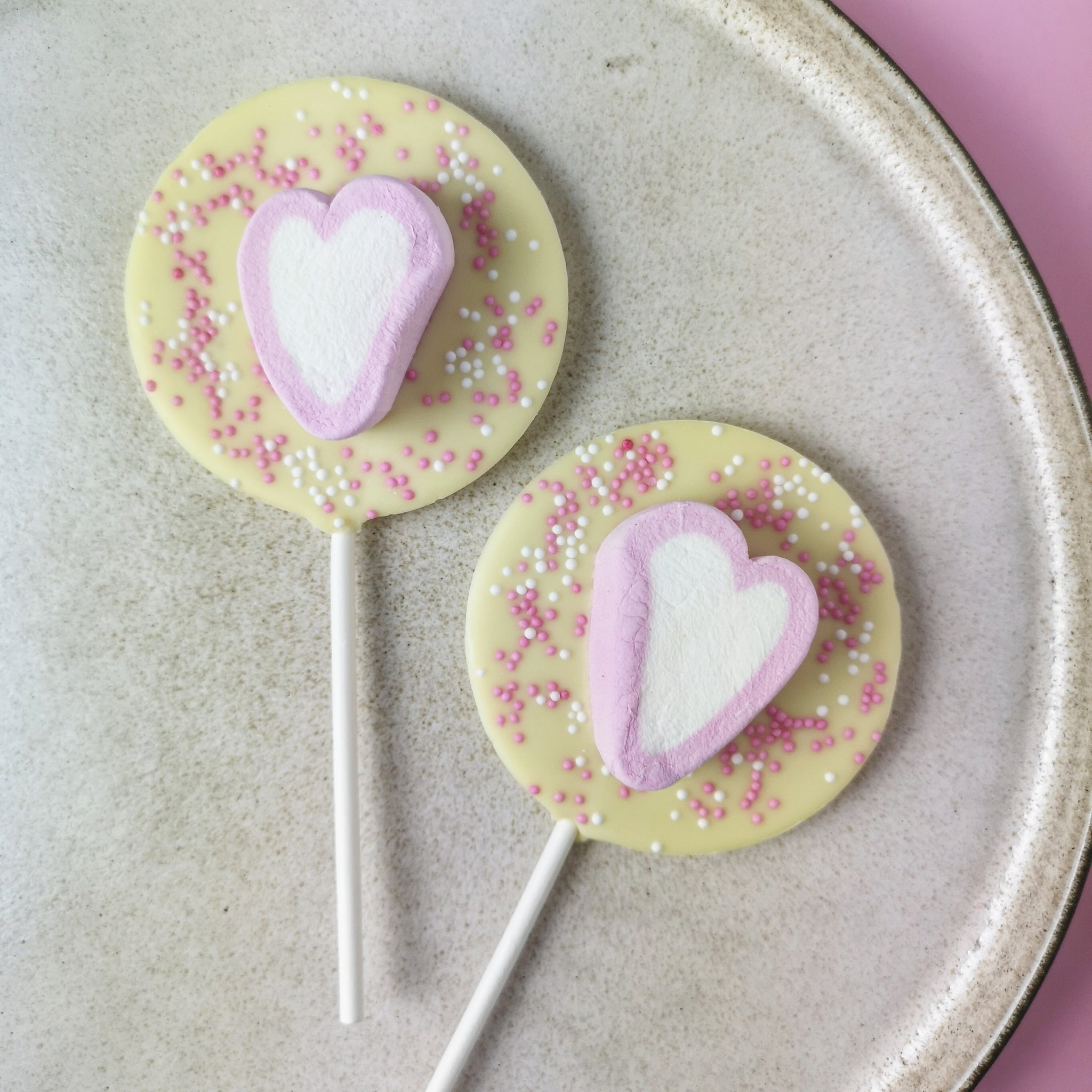 Heart Marshmallow Lollipops